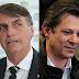 Datafolha: Rejeição a Haddad cresce 9 pontos e chega a 41%; Bolsonaro tem 45%
