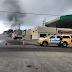 Carro pegou fogo na avenida Capitão - Mor - Gouveia neste domingo