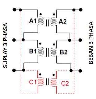 Transforamtor-tiga-phasa-to-open-delta