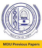 MDU Previous Papers