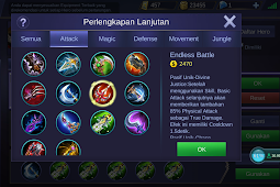 Item Wajib Lesley Mobile Legends Terbaru