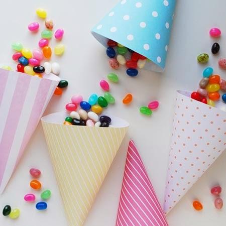 Imprimibles conos de papel fiestas
