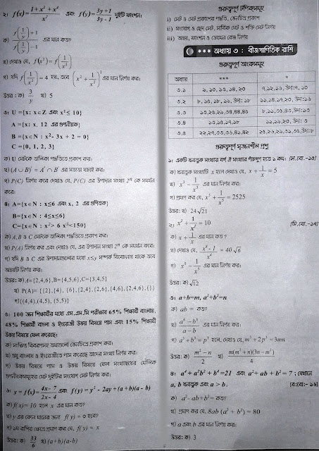 ssc general math suggestion, exam question paper, model question, mcq question, question pattern, preparation for dhaka board, all boards