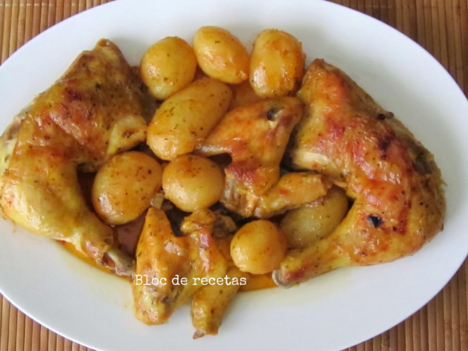Bloc de recetas pollo al horno con patatas en bolsa de asar - Pollo al horno con limon y patatas ...