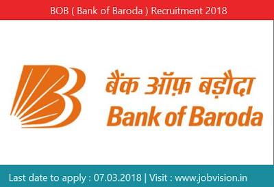 BOB ( Bank of Baroda ) Recruitment 2018