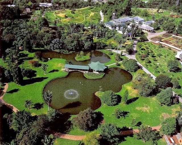 Panorámica del Jardín Botánico en Viña del Mar, Chile