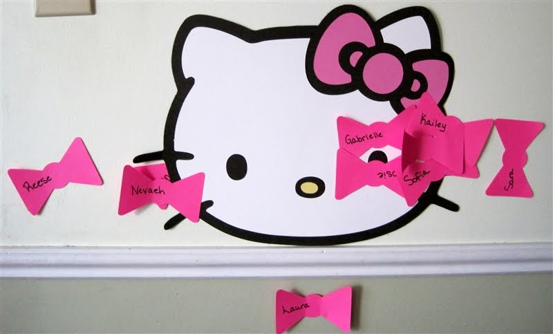 Purple monkey moments hello kitty party week day 6 for Hello kitty cut out template