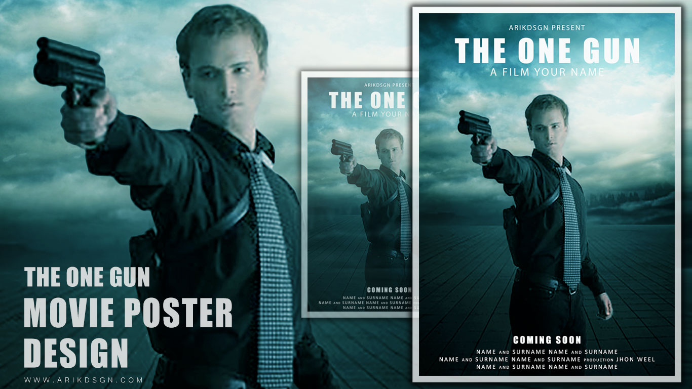 Movie poster photoshop tutorial the one gun baditri Choice Image