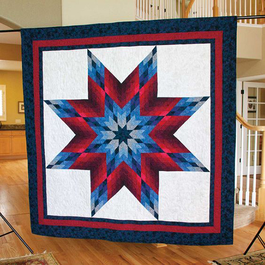 Lone Star Large Lap Quilt Free Tutorial