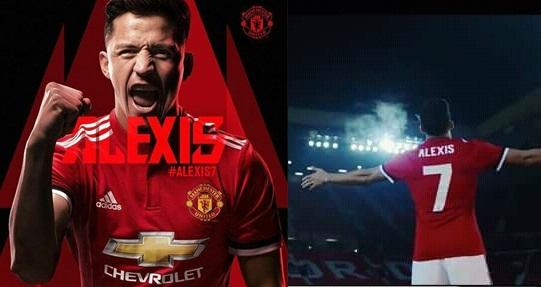 Alexis Sanchez Resmi Jadi Pemain Manchester United  Berkostum 7 (Biografi, Fakta, Posisi, Prestasi )