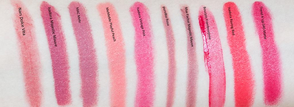 Matte Lippenstifte Swatches