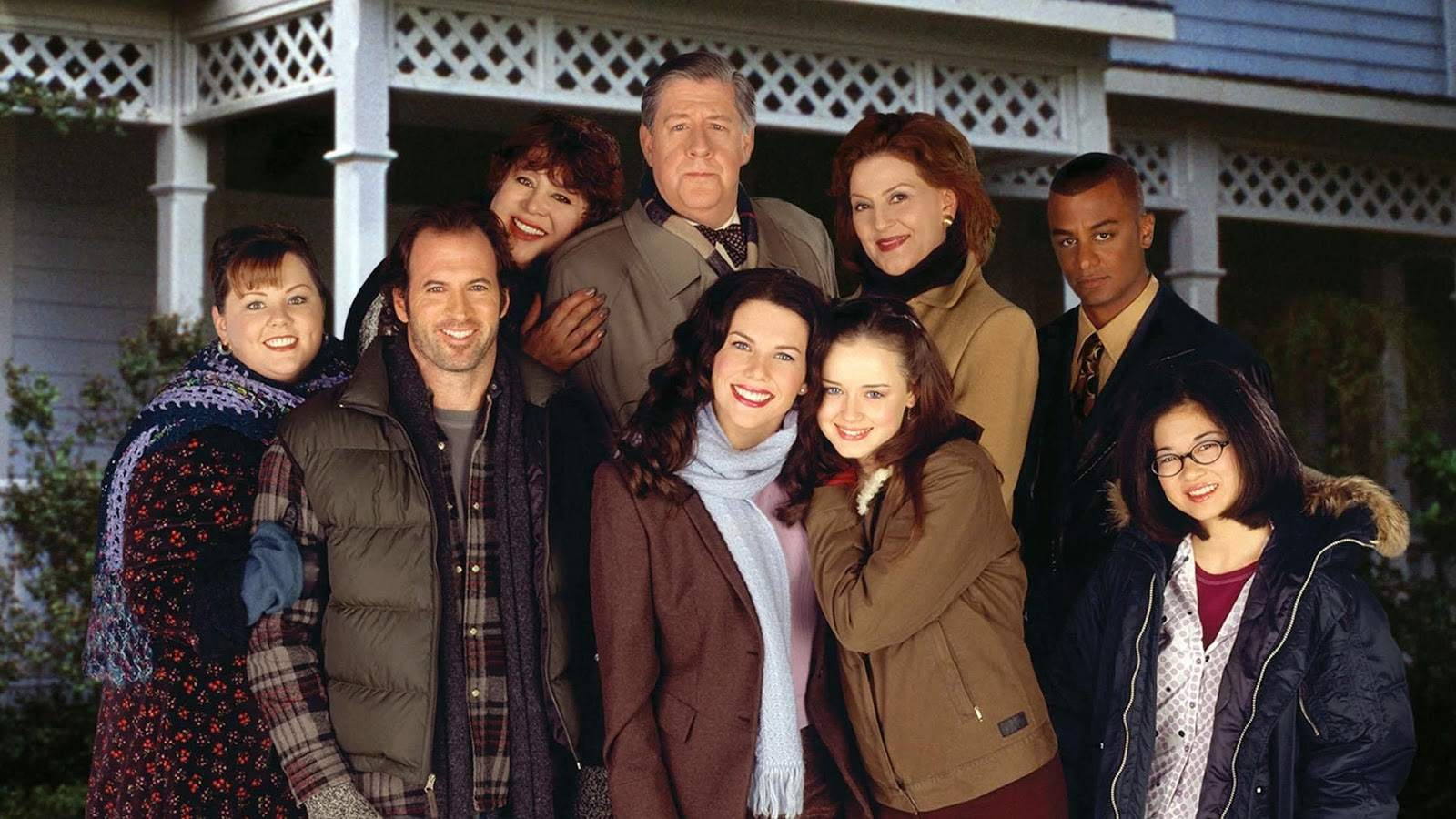 Rory Lorelai Emily Richard Luke Danes Sookie Lane Michel Miss Patty Lauren Graham Yanic Truesdale Melissa McCarthy Liz Torres Alexis Bledel Kelly Bishop Edward Herrmann Scott Patterson Keiko Agena Las Chicas Gilmore Gilmore Girls a year in the life Netflix