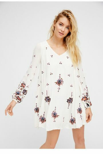 Open neck floral printed short Dress