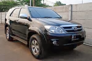 Fortuner diesel 2008 hitam manual