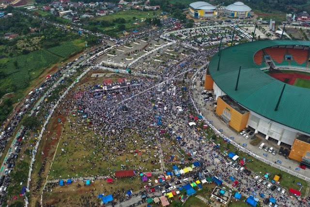 Disambut Ratusan Ribu Orang, Prabowo: Nanti Dibilang 200 Orang