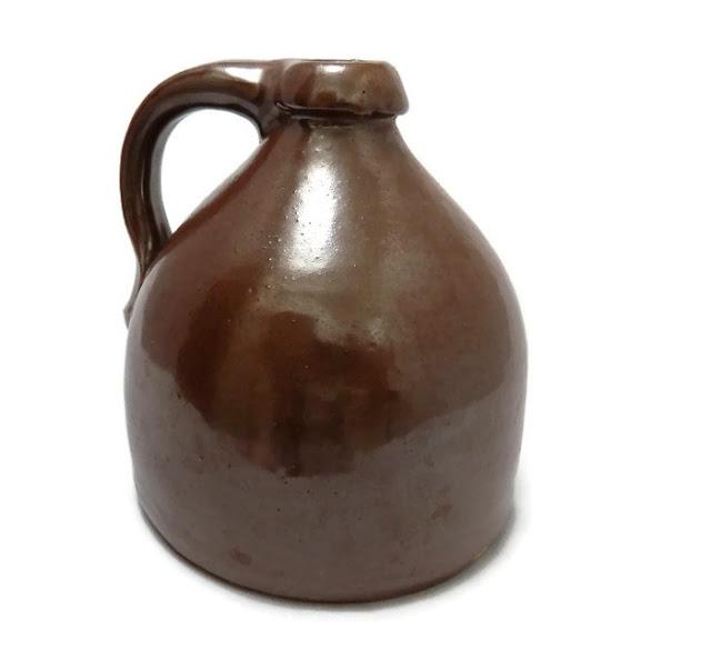 Brown Stoneware Beehive Shape Jug -  Albany Slip