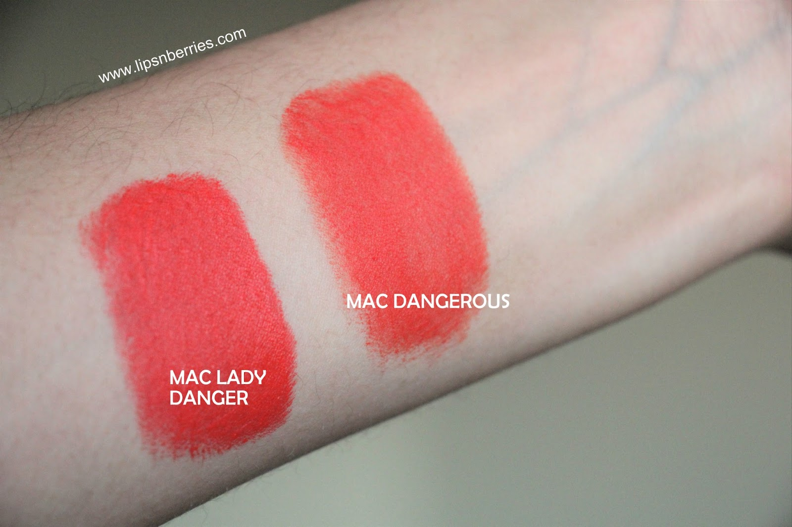 spesso Lips n Berries!: MAC Retro Matte Lipstick in Dangerous Review JW69