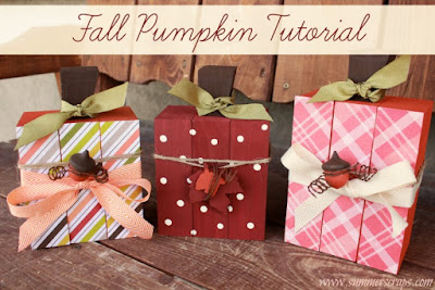 Fall Pumpkin Tutorial, shared by Summer Scraps