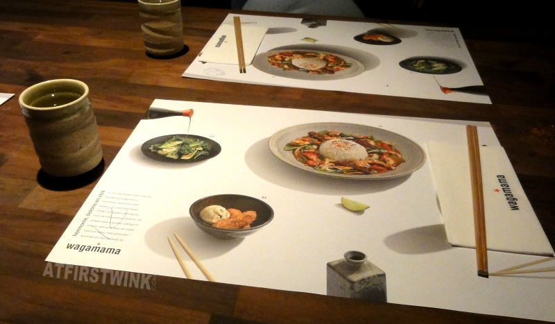 Wagamama Rotterdam witte de withstraat placemats