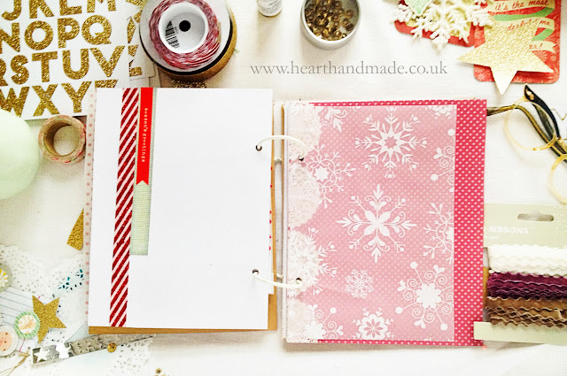 Glitter snowflake vellum in my December Daily album