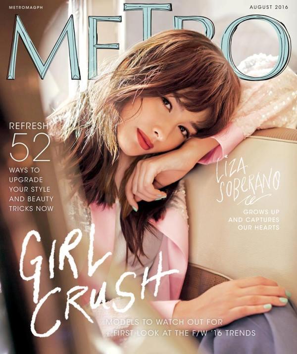 Liza Soberano in Metro magazine August 2016 cover