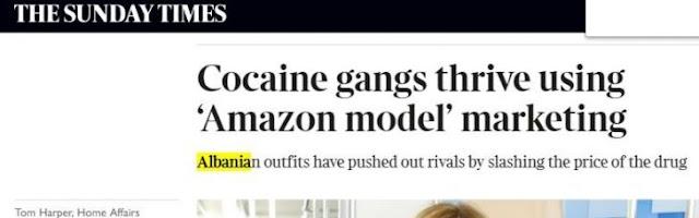 Il mercato della cocaina, gli albanesi prendono il controllo della Gran Bretagna