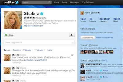 Twitter da Shakira