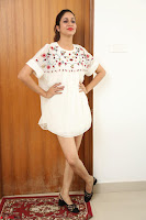 Lavanya Tripathi in Summer Style Spicy Short White Dress at her Interview  Exclusive 257.JPG