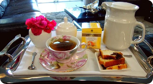 Montando a Bandeja : Hora do Chá