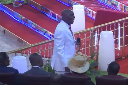 """Bishop David Oyedepo says """"God does not open the windows of heaven on non-tithers"""" (see the video)."""