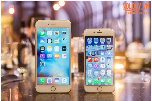Hình ảnh chiếc iphone 6s plus bên cạnh iphone 6