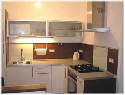 cara menata dapur ukuran kecil