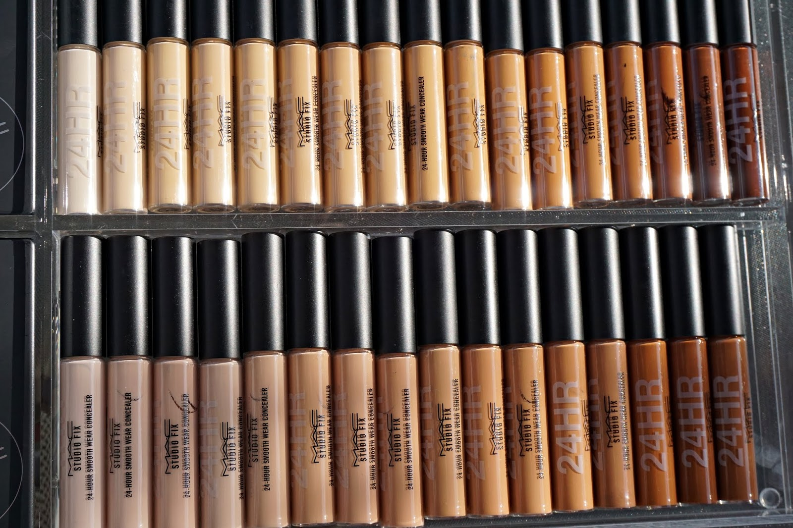 MAC Studio Fix 24-Hour Concealer swatches