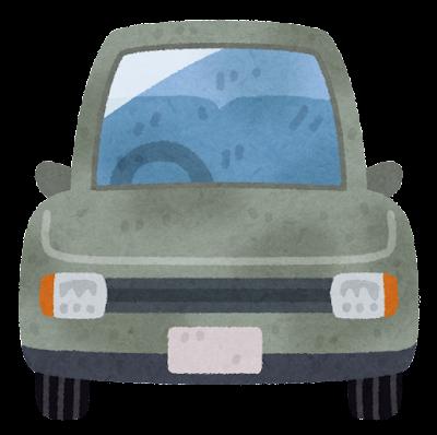 汚れた車のイラスト
