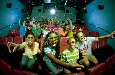 bubble rain scene in 3d movie
