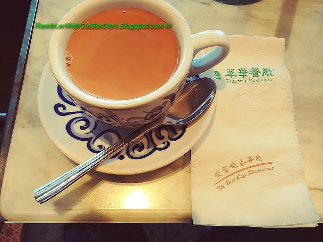 Milk tea, Tsui Wah Restaurant, Fu Tung Plaza, Tung Chung, Hong Kong