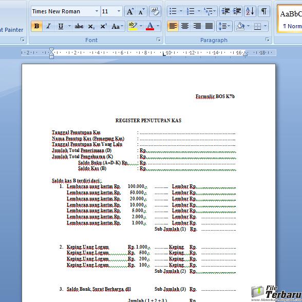 Download Lampiran Formulir Bos K7b Gratis File Terbaru