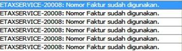 e-Faktur Reject ETAXSERVICE 20008