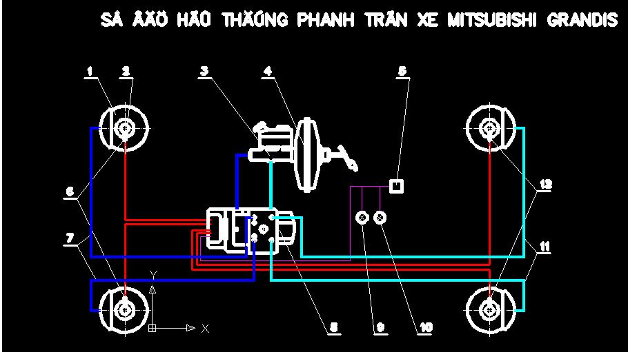 Bản vẽ thống phanh xe mitsubishi grandis