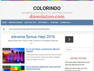 Template Terbaru 2017 Colorindo Profesional Blogger Downlaod Gratis