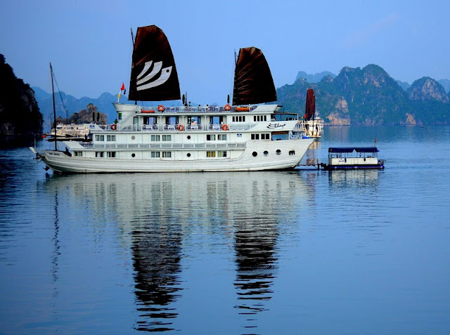 Experience the serene magic of world famous Halong Bay night onboard 1