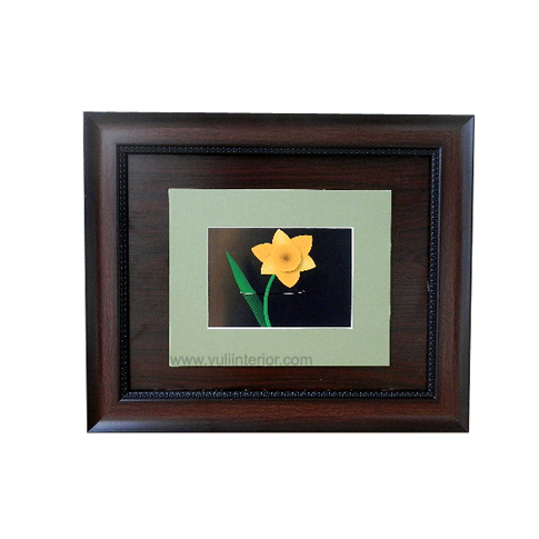 11 x 14 Brown Wall Frame, Single Flower Design Nigeria