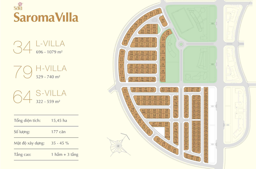Khu biệt thự Saroma Villa
