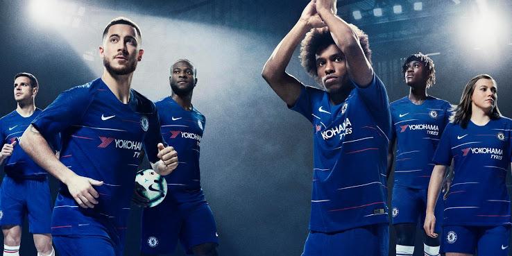 fe4a0ddfcc4bb Chelsea FC 2018 19 Kit - Dream League Soccer Kits - Kuchalana