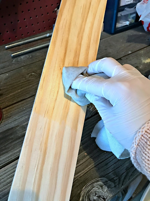 Precondition wood before stain