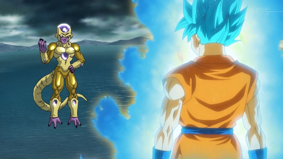 Golden Frieza and Super Saiyan Blue Goku have a chat.