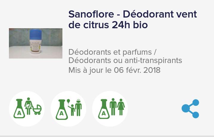 Vent de Citrus - Déodorant Efficacité 24h - Sanoflor