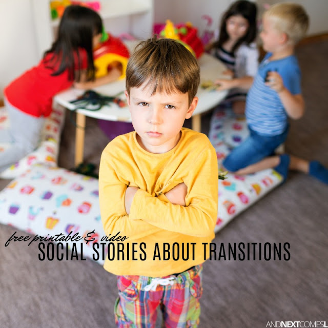 Free social stories about how to handle changes in routines