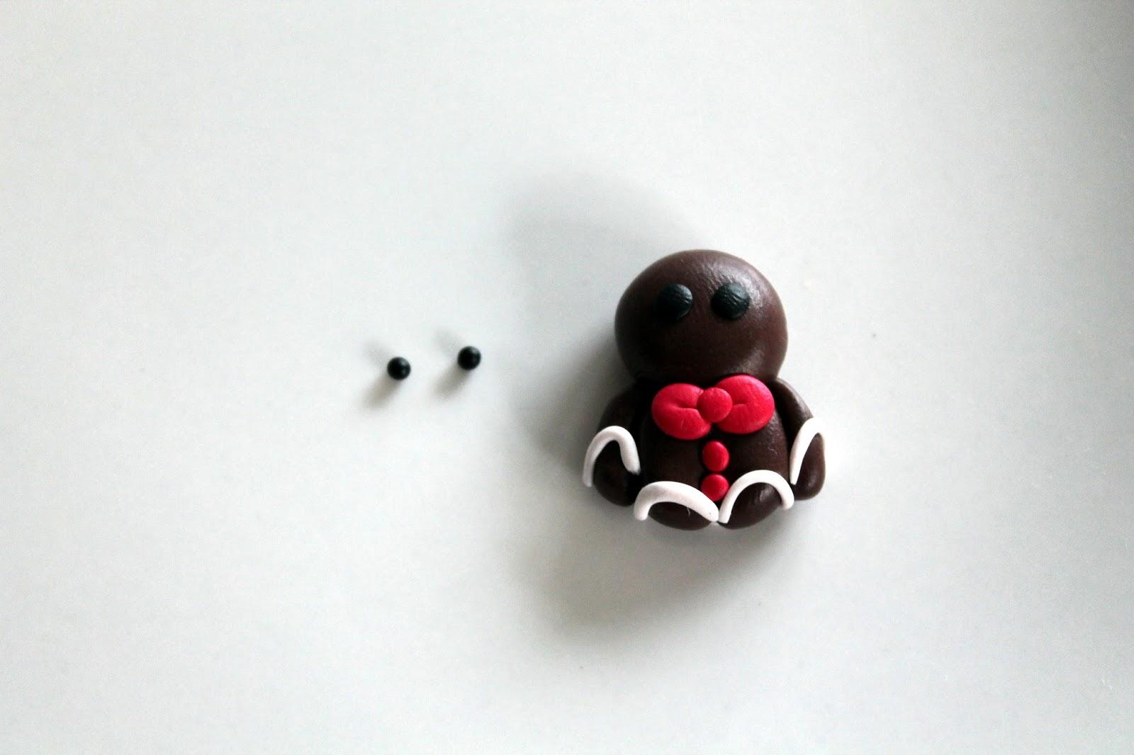DIY, Basteln: Fimo / Polymer Clay Lebkuchenmänner und Zuckerstange in Schlüsselanhänger und Kettenanhänger - DIYCarinchen