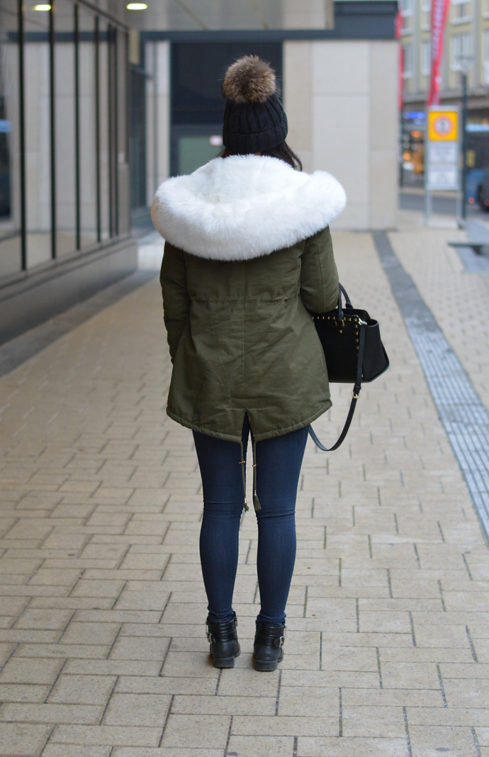 Parka with Faux Fur Lined Hood, Parka, Faux Fur Parka